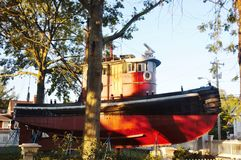 De zeehaven historische sleepboot van mysticusconnecticut de V.S. royalty-vrije stock afbeelding