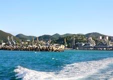 De zeehaven, mening van ziet Royalty-vrije Stock Foto