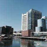 De Zeehaven van Boston en Intercontinentaal Hotel Stock Afbeeldingen