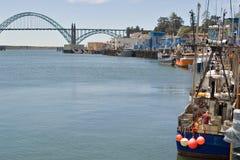 De zeehaven van Nieuwpoort, Oregon stock foto's