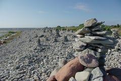 De zeekust Oostzee van rotsen stock afbeelding