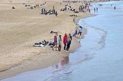 De zeekust van Valencia tijdens de winter Stock Afbeelding