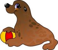 De zeeleeuw van het beeldverhaal stock illustratie