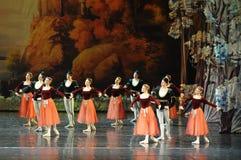 De zeeman en nam meisje-ballet Zwaanmeer toe royalty-vrije stock afbeelding