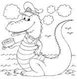 De zeeman van de krokodil Stock Afbeeldingen