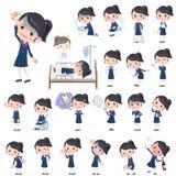 De Zeemanskostuum van het schoolmeisje over de ziekte Royalty-vrije Stock Afbeeldingen