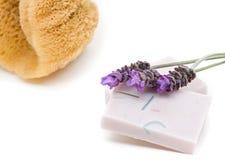 De zeep van de lavendel Royalty-vrije Stock Fotografie