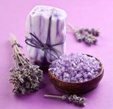 De zeep van de lavendel. Stock Afbeelding