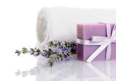 De zeep van de lavendel Royalty-vrije Stock Foto