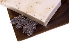 De zeep van de lavendel. kuuroord royalty-vrije stock fotografie