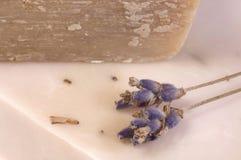 De zeep van de lavendel. kuuroord royalty-vrije stock foto