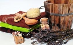 De zeep van Wellness van de sauna stock afbeelding