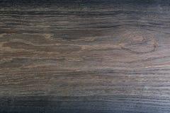 De zeer donkere textuur van zwarte glanst hout eik Stock Foto