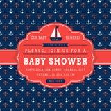 De zeevaartkaart van de babydouche Royalty-vrije Stock Foto's