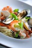 De zeevruchten van de spaghetti Stock Foto's