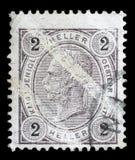 De zegel door Oostenrijk wordt gedrukt, toont Keizer Franz Joseph dat Royalty-vrije Stock Afbeeldingen