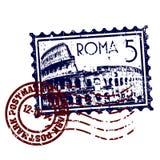 De zegel of het poststempelstijl van Rome grunge