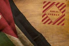 De zegel maakte binnen en Vlag van Jordanië royalty-vrije stock afbeelding