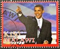 De zegel toont Barack Obama Royalty-vrije Stock Afbeeldingen