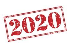 de zegel van 2020 Stock Afbeelding