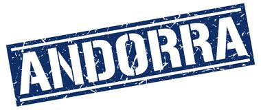 De zegel van Andorra stock illustratie