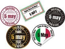 De zegel van Cinco DE Mayo Stock Foto