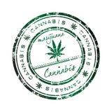 De zegel van de cannabis Stock Fotografie