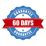 de zegel van de 60 dagenwaarborg - garantie Stock Foto's