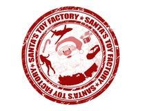 De zegel van de Fabriek van het Stuk speelgoed van de kerstman Royalty-vrije Stock Fotografie