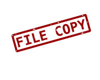De zegel van de het exemplaarinkt van het dossier Royalty-vrije Stock Foto