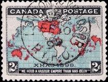 De Zegel van de Kaart van de wereld royalty-vrije stock foto