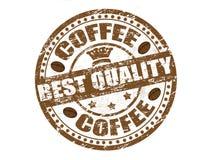 De zegel van de koffie Stock Afbeelding
