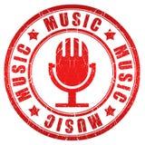 De zegel van de muziek Stock Foto's