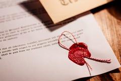 De zegel van de notariswas - verbinding royalty-vrije stock fotografie