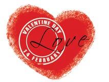 De zegel van de valentijnskaart Royalty-vrije Stock Fotografie
