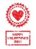 De zegel van de valentijnskaartendag Royalty-vrije Stock Afbeelding