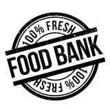 De zegel van de voedselbank stock illustratie