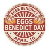 De zegel van eierenbenedict day royalty-vrije illustratie