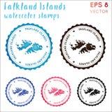 De zegel van de Falkland Eilanden stock illustratie