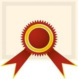De zegel van het diploma vector illustratie