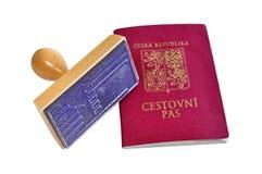 De zegel van het paspoort stock foto's