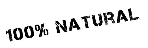 de zegel van het 100 percenten natuurlijke rubber Royalty-vrije Stock Foto