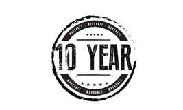 de zegel van de 10 jaargarantie vector illustratie