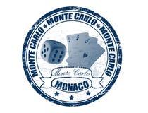 De zegel van Monte Carlo Stock Afbeelding