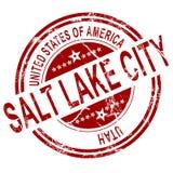 De zegel van Salt Lake City Texas met witte achtergrond Stock Afbeelding