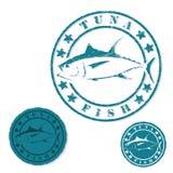 De zegel van tonijnvissen grunge royalty-vrije illustratie