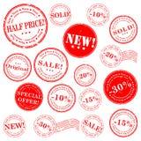 De zegel vectorreeks van de verkoop Stock Fotografie