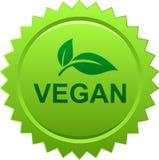 De zegelembleem van de veganistverbinding royalty-vrije illustratie