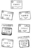 De Zegels van de reis Stock Afbeeldingen