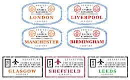De zegels van de reis - het UK Stock Afbeelding